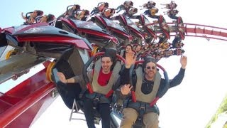 X-Flight Front Row Seat rider cam HD Six Flags Great America