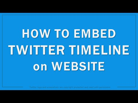 How To Embed Twitter Timeline On Website