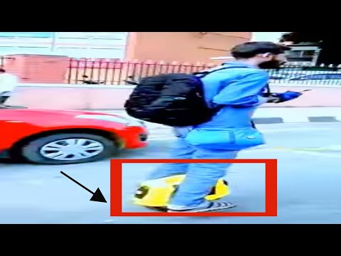 HOVER BOARD ON BANGALORE ROADS --NEW UPCOMING TWO WHEELER FOR 2018.THE BEST  FOR BANGALORE TRAFFIC