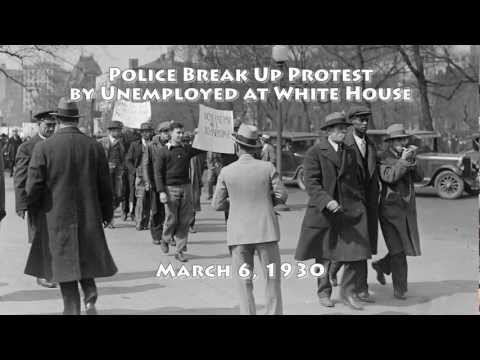 Police Break Up Jobless Protest at the White House: 1930