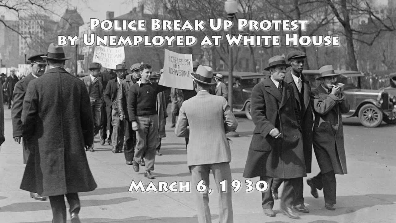 Police Break Up Jobless Protest at the White House: 1930 ... 1940s White House Scottie