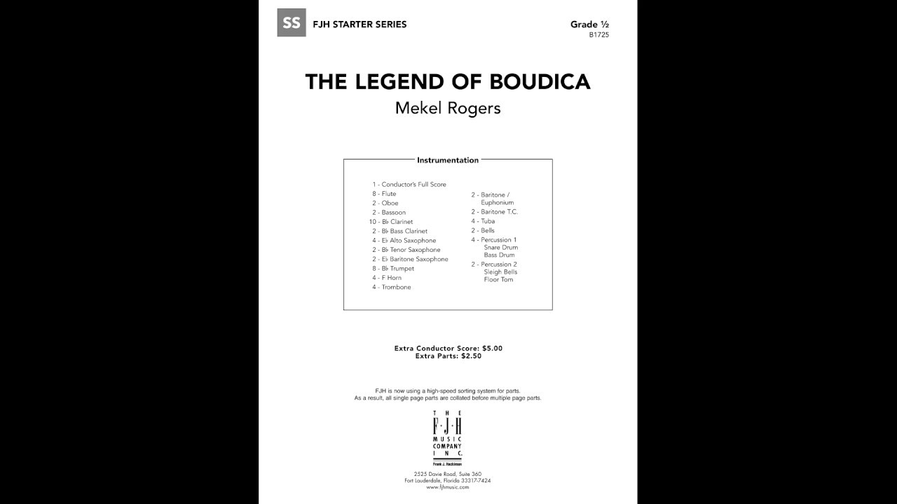 The Legend of Boudica by Mekel Rogers | Band/Orchestra