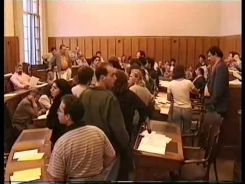 1996 REALTÀ ANTAGONISTA irrompe nel Consiglio Comunale di  Lugano.