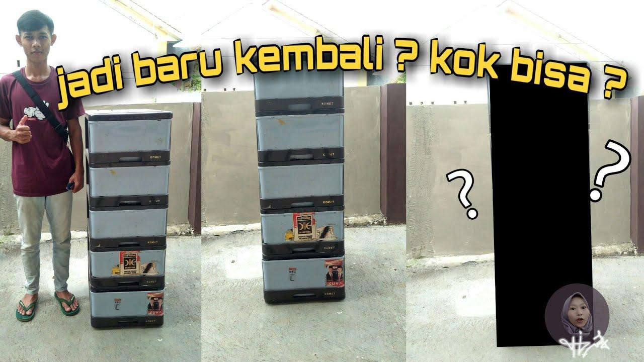 TUTORIAL    Cara merubah lemari bekas jadi baru kembali ...