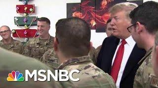 President Donald Trump Turns Troop Meeting Into Political Event | Morning Joe | MSNBC