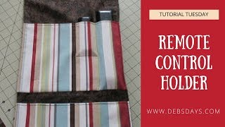 How to Sew a Fabric Remote Control Holder - Quick and Easy Project
