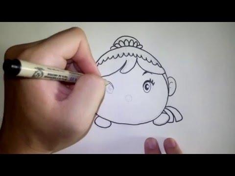 เจ้าหญิง อันนา ดิสนีย์ ซูมซูม Tsum Tsum วาดการ์ตูนกันเถอะ สอนวาดรูป การ์ตูน