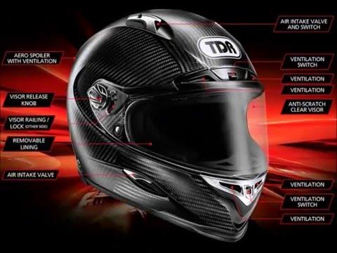 TDR Stealth-R Racing Helmet - Full Features