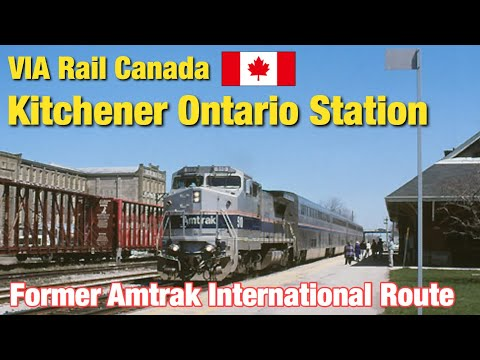 [ Canada Station ] Former Amtrak International route, VIA Rail Canada Kitchener Ontario Station