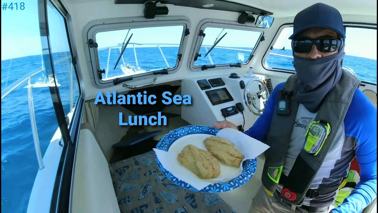 Fresh from the Atlantic Sea Reef Fishing in a small Crooked PilotHouse Boat