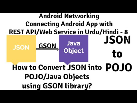 Android REST API - 8   How to Convert JSON into POJO/Java