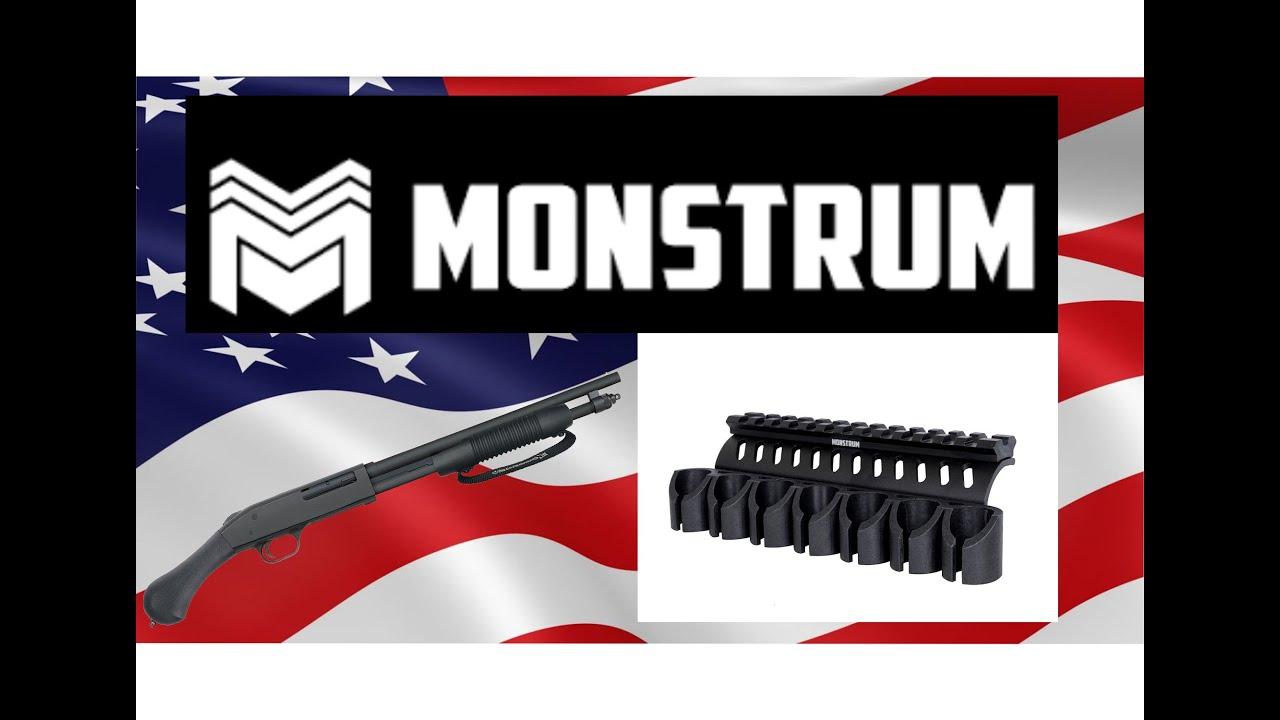 Monstrum  [ Side Mounted 12 Gauge Shell Holder with Picatinny Rail Mount ]