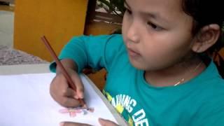 Cara lukis gambar bunga kanak kanak