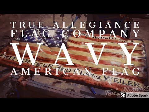 USS Wright Wavy Flag Build | True Allegiance Flag Company | #rusticflags #military