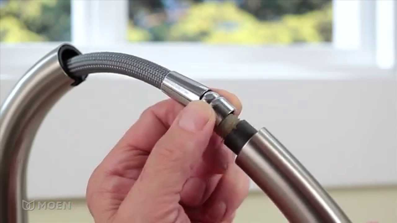 Installing A Pullout Kitchen Faucet Moen Guided Installations focus for Kitchen Sink Faucet Hose Leaking