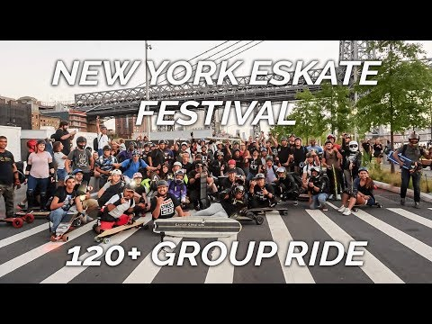 First Ever eSkate Festival, World Record 120+ Group Ride, DC ESK8 - NYEF 2018