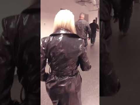 Christina Aguilera Backstage at Formula 1 Azerbaijan Grand Prix in Baku