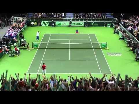 |Davis Cup| Radek Štěpánek - Nicolas Almagro;poslední míček
