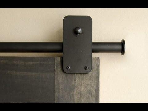 Creative Industrial Pipes to Hang Barn Doors