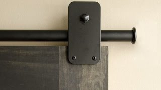 Creative Industrial Pipes to Hang Barn Doors