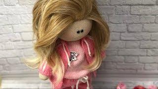 Обзор вязаной куклы.(17.03.19)
