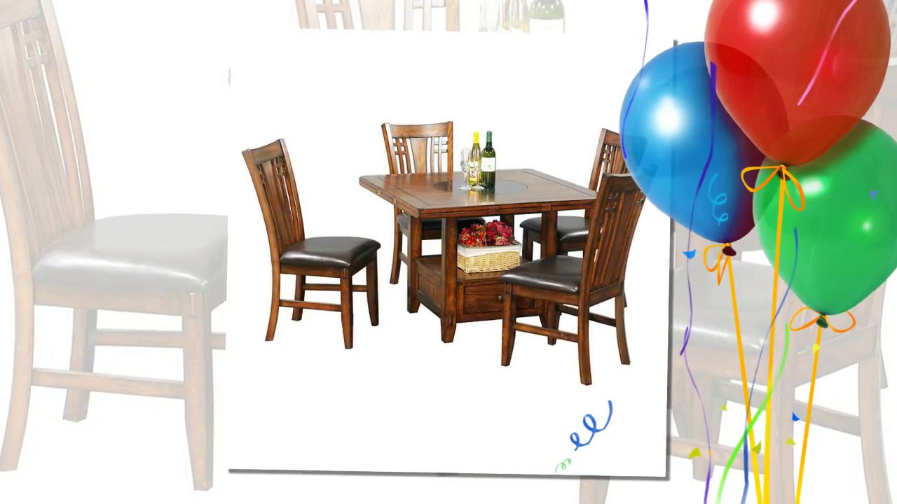 72 Round Dining Table With Lazy Susan Youtube