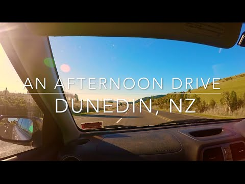 Driving Around Dunedin, New Zealand
