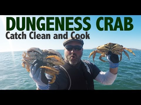 Dungeness Crab Catch, Clean and Cook Northern California Style