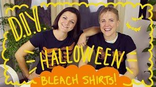 DIY HALLOWEEN BLEACH SHIRTS ft. Joselyn Hughes!