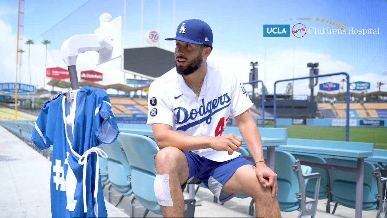 """Pediatric patients use robot to """"run the bases"""" at Dodger Stadium"""