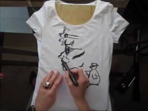 T-shirt drawing - Nightlife - YouTube
