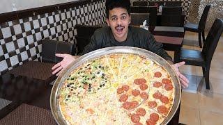 اكلت اكبر بيتزا في العالم !! تحدي 10 الاف ريال