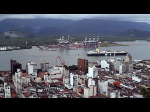 Port City of Santos Brazil
