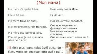 """Устная тема """"Моя семья"""". Французский язык"""