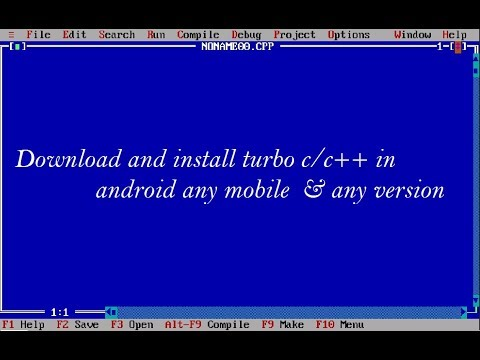 How To Install & Download Turbo C In Android || Any Version || Any Mobile ||
