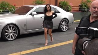 Kim Kardashian arrives to ChinChins