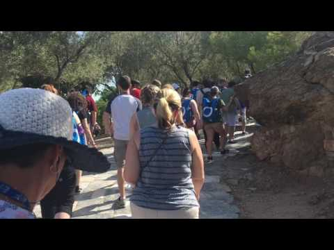 The long walk to the Parthenon and the theater of Dionysus