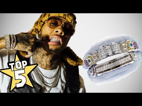 TOP 5 GRILLZ DE RAPEROS (Tyga, Travis Scott, ASAP Rocky)
