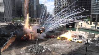 Transformers 3 Filming-- Explosions, Jumpers and Movie Stars in Downtown Chicago