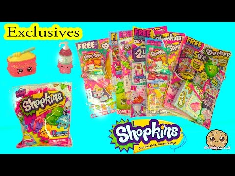 13 Blind Bags From Official Shopkins Magazine Season 2 - 4 With Exclusives - Cookieswirlc