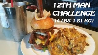 12th Man Burger Challenge (4 Lbs; 1.81 Kg)