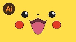 Learn How to Draw Pikachu's Face in Adobe Illustrator | Dansky