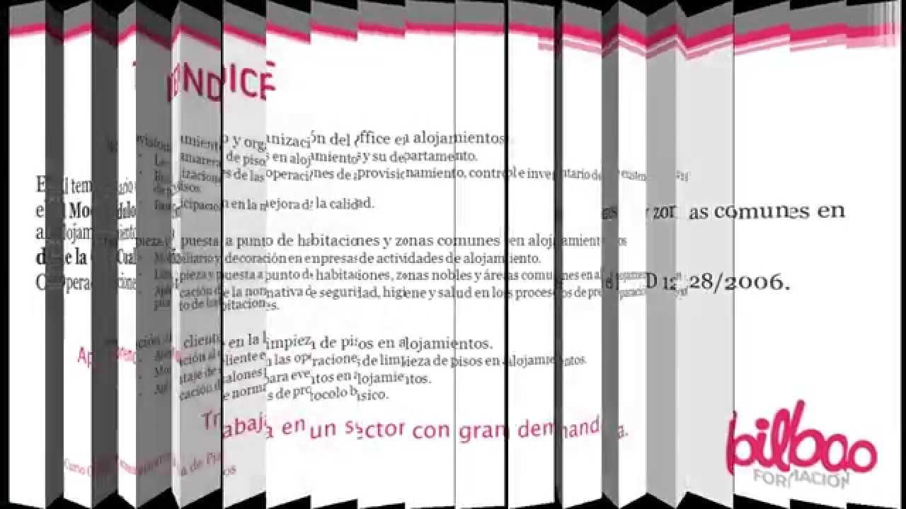 Curso de camarera pisos en bilbao formacion youtube - Camarera de pisos curso gratuito ...