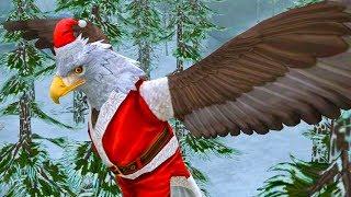 НОВЫЙ ГОД и Рождество в СИМУЛЯТОРЕ МАЛЕНЬКОГО ПИТОМЦА #15 Орел и Снеговик с оленем в детской игре