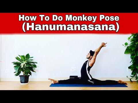 How To Do Yoga Monkey Pose (Hanumanasana) Step-by-step/Music video/Yoga by Master Rajesh/Rajesh Yoga