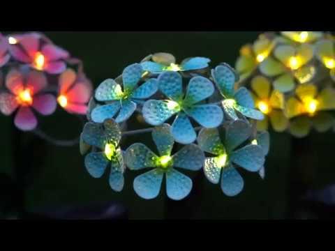 FLORALITE - Solar LED Metal Flower Stake Lights
