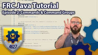 FRC Java Tutorial WPILib 2019 Command Based Framework Ep 3 Commands and Command Groups