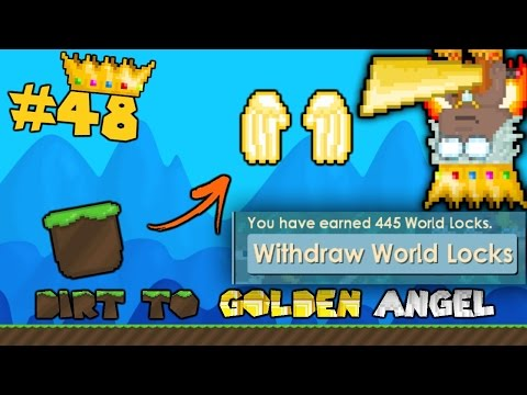 Growtopia | Dirt to G Angel #48 [455 WLS IN THE VEND!]