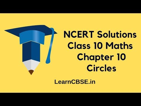 Ncert Solutions For Class 10 Maths Chapter 10 Circles Ex 101 Q1 And