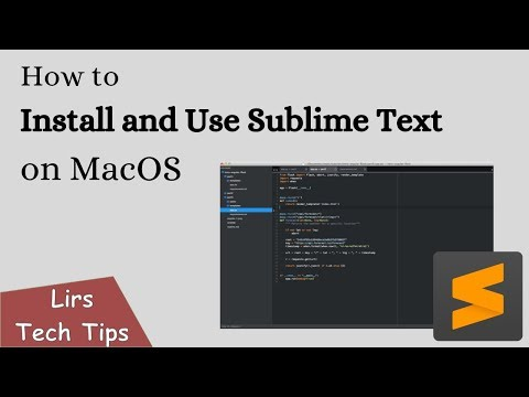 How To Install And Use Sublime Text On MacOS
